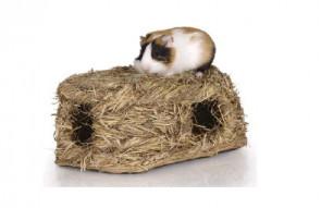 Domček z trávy - strecha -pre hlodavce