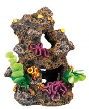 Dekorácia útes s rastlinami